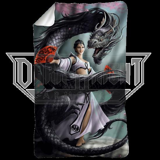 Anne Stokes Dragon Dancer Fleece Blanket