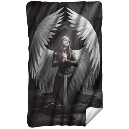 Anne Stokes Prayer for the Fallen Fleece Blanket