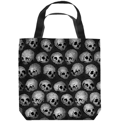 Gray Skull Tote Bag