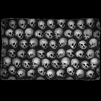 Gray Skull Fleece Blanket