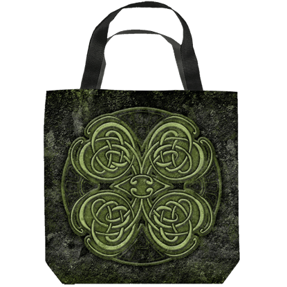 Celtic Clover Tote Bag