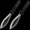 2 Piece Biohazard Black Leaf Blade Throwing Knives