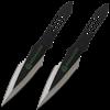 2 Piece Biohazard Asymmetrical Spear Throwing Knives