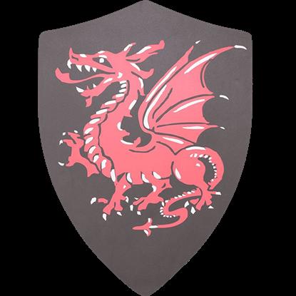 Red Dragon LARP Heater Shield
