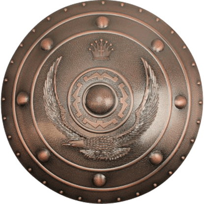 Polypropylene Copper Eagle Round Shield