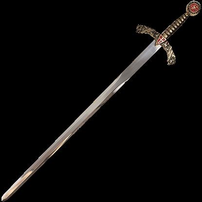 Cross Shield Excalibur Sword with Plaque