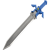 Blue Master Sword and Shield Necklace
