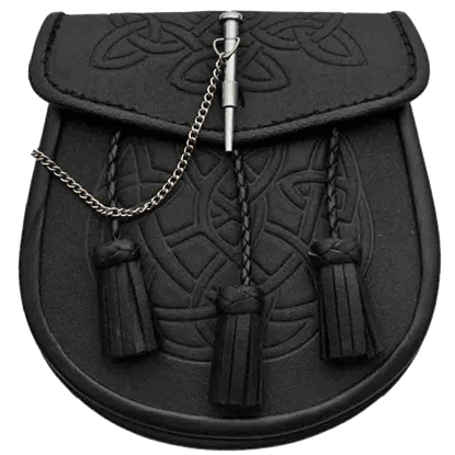 Pin Closure Tasseled Celtic Sporran