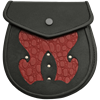 Black and Red Scaled Sporran
