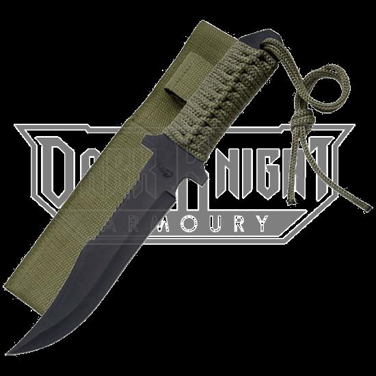 Blackened Military Hunter Knife