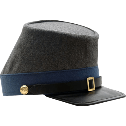 Blue Confederate Infantry Kepi Hat
