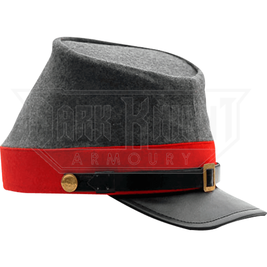 c9861f84aa0 Red Confederate Artillery Kepi Hat - ZS-253411 from Leather Armor ...