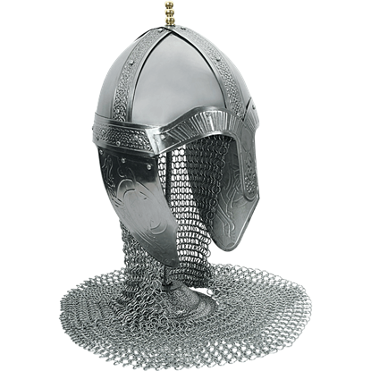 Medieval Norman Helm with Aventail