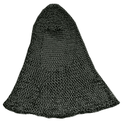 Black Butted Chainmail Coif