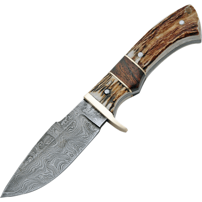 Damascus Game Skinner Knife