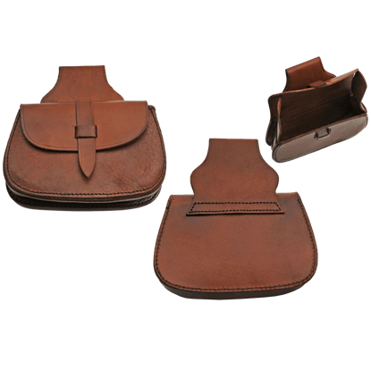 Feudal Brown Leather Belt Bag