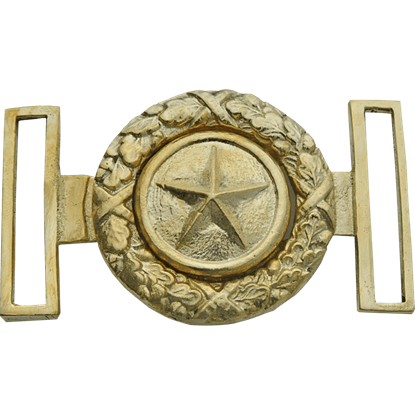 Gold Texas Star and Wreath Belt Buckle