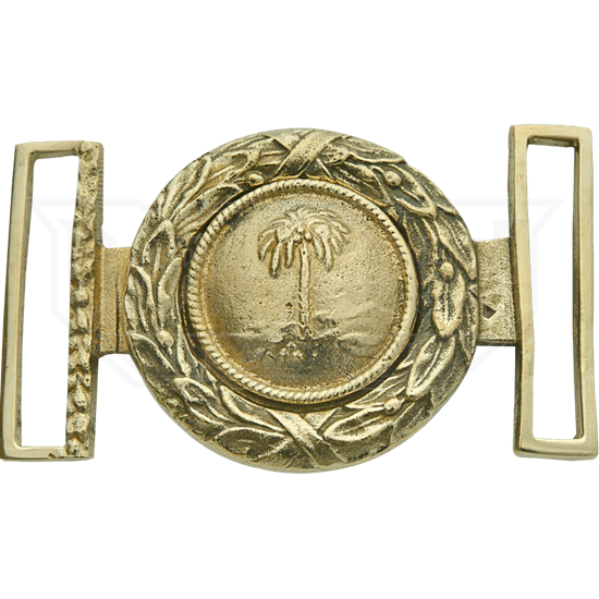 Gold SC Palmetto Belt Buckle