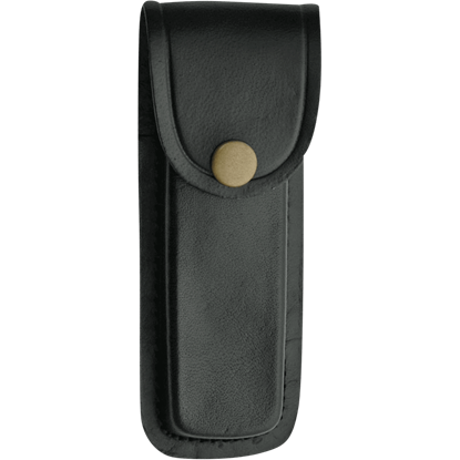 5 Inch Black Plain Leather Sheath