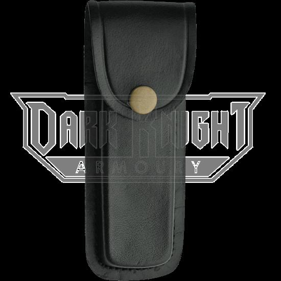 5 Inch Black Plain Leather Sheath