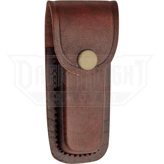 4 Inch Brown Plain Leather Sheath