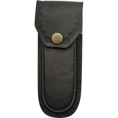 5 Inch Heavy Duty Black Leather Sheath