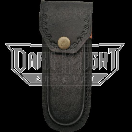 5 Inch Heavy Duty Black Leather Sheath