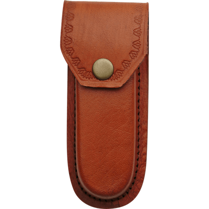 5 Inch Heavy Duty Brown Leather Sheath