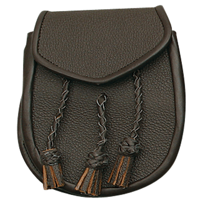 Brown Braided Tassel Sporran