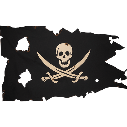 Battle Worn Small Calico Jack Flag
