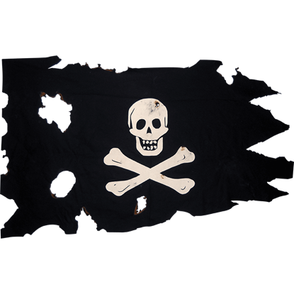 Battle Worn Small Jolly Roger Flag
