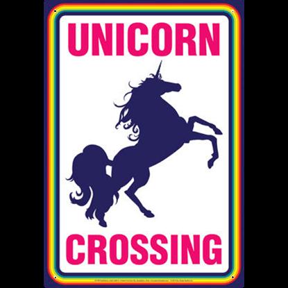 Unicorn Crossing Metal Sign