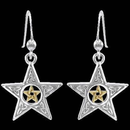 Celtic Pentacle Earrings