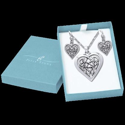 Celtic Heart Jewelry Set