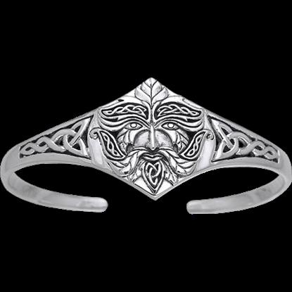 Celtic Greenman Silver Bracelet