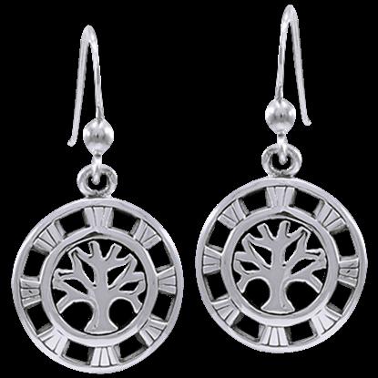 Silver Solar Healing Earrings