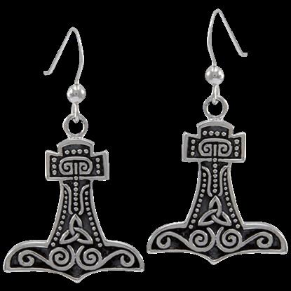Hammer of Thor Dangle Earrings