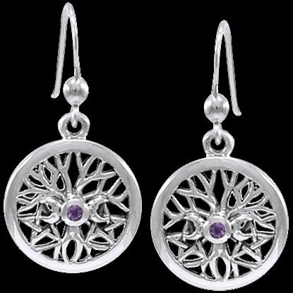 Silver Talisman of Life Earrings