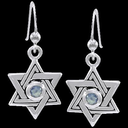 Jeweled Seal of Solomon Earrings