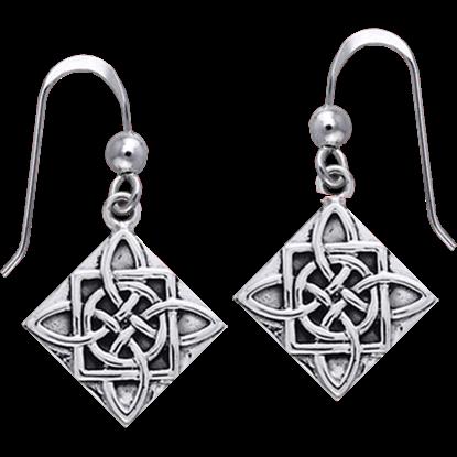Four Point Celtic Knot Earrings