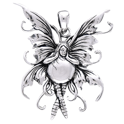 Bubble Rider Fairy Pendant