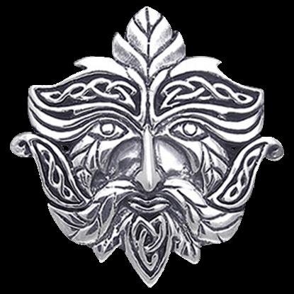 Knotwork Greenman Pendant