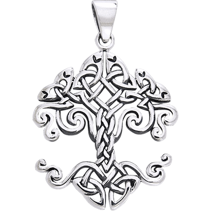 Celtic Knotwork Tree of Life Pendant by Cari Buziak