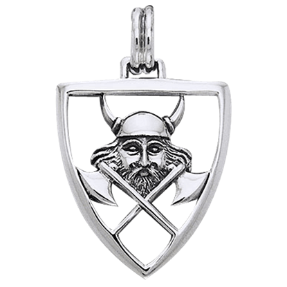 Viking Warrior Shield Pendant
