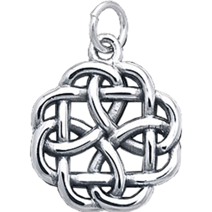 White Bronze Knotwork Charm