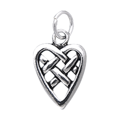 Celtic Knotwork Heart Charm