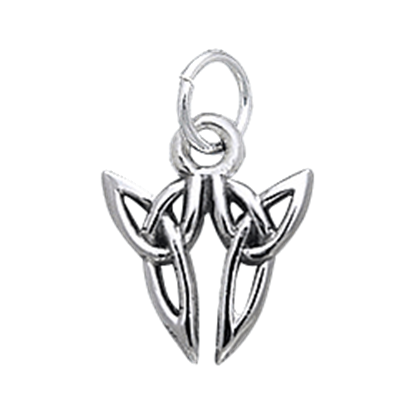 Celtic Twin Triquetra Charm