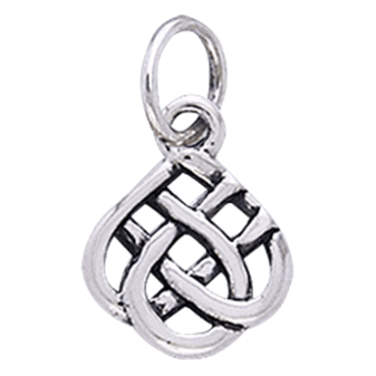 White Bronze Eternal Knot Charm