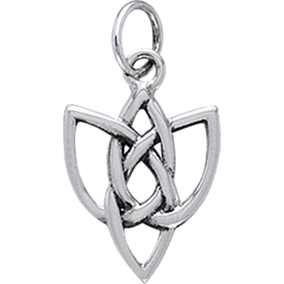 White Bronze Celtic Knot Charm