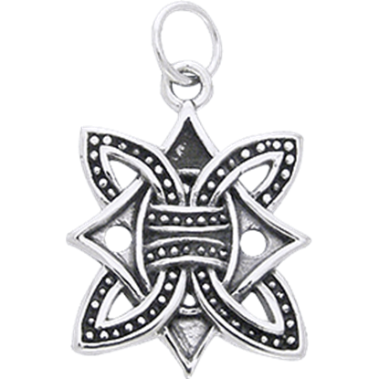 White Bronze Borre Knot Charm
